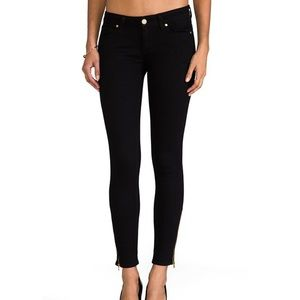 Paige Verdugo Skinny Ankle Zipper Black Jeans 27